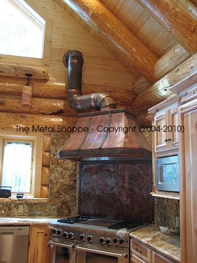 rustic copper kitchen range hood yosemite stovepipe backsplash wmjpg